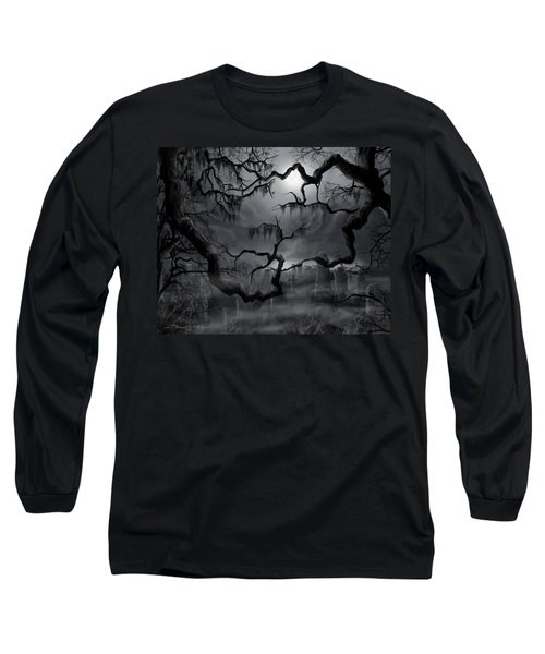 Midnight In The Graveyard II Long Sleeve T-Shirt by James Christopher Hill