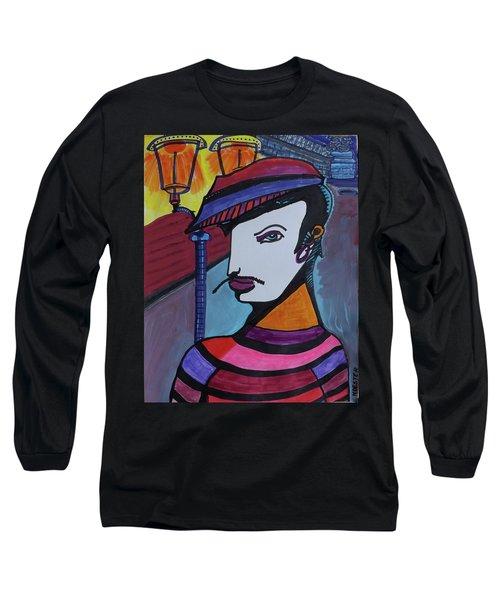 Midnight Mime Long Sleeve T-Shirt