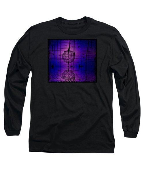 Long Sleeve T-Shirt featuring the digital art Midnight Reeds by Mario Carini