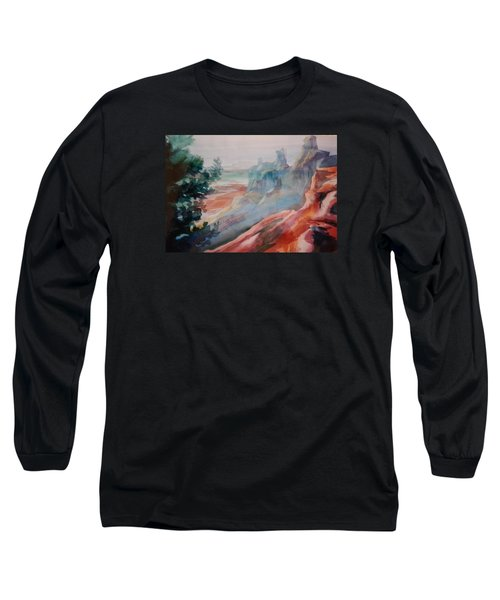 Mighty Canyon Long Sleeve T-Shirt by Becky Chappell