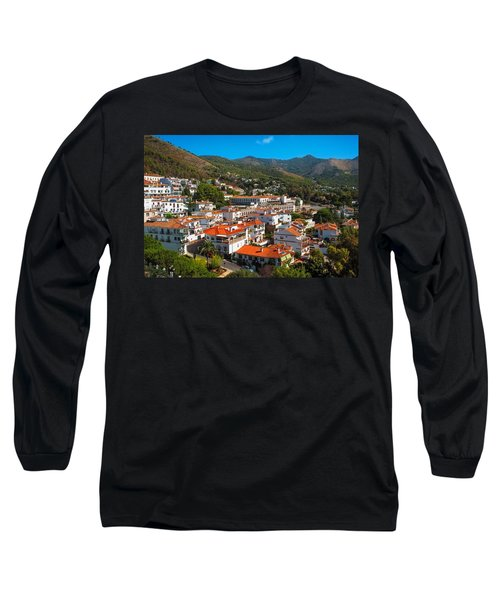 Long Sleeve T-Shirt featuring the photograph Mijas Village In Spain by Jenny Rainbow
