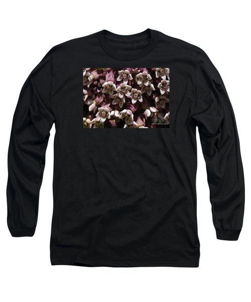 Long Sleeve T-Shirt featuring the photograph Milkweed Florets by Randy Bodkins