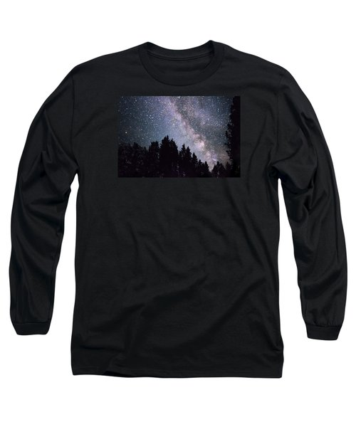 Milky Way Above The Bighorns Long Sleeve T-Shirt