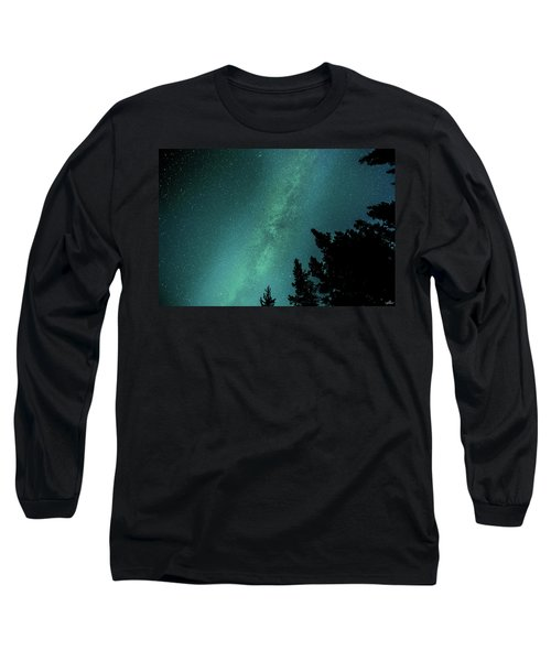 Milky Way Above The Trees Long Sleeve T-Shirt