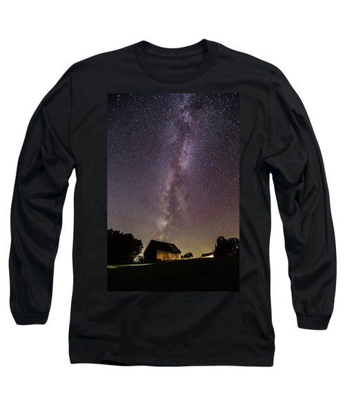 Milky Way And Barn Long Sleeve T-Shirt