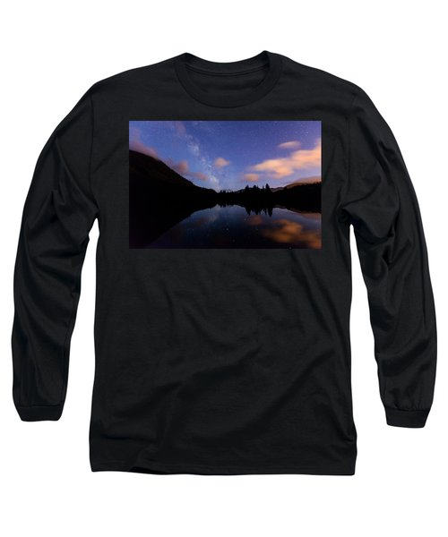 Milky Way At Snoqualmie Pass Long Sleeve T-Shirt