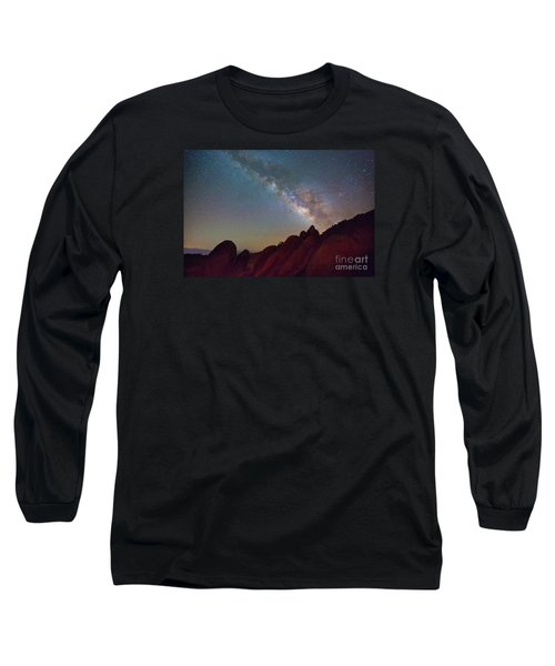 Milky Way In The Alabama Hills Long Sleeve T-Shirt