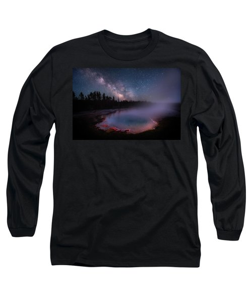 Milky Way In Yellowstone Long Sleeve T-Shirt