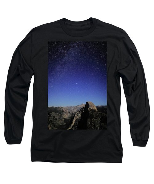 Milky Way Over Half Dome Long Sleeve T-Shirt