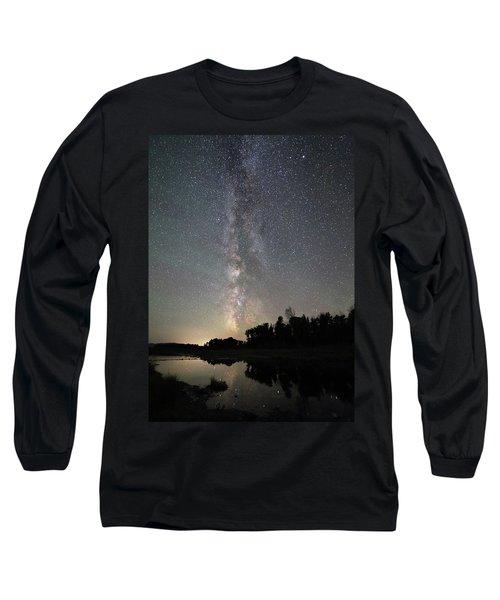 Milky Way Over Schwabacher's Landing Long Sleeve T-Shirt