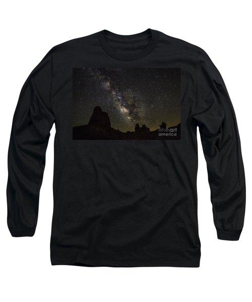 Milky Way Over Trona Pinnacles Long Sleeve T-Shirt
