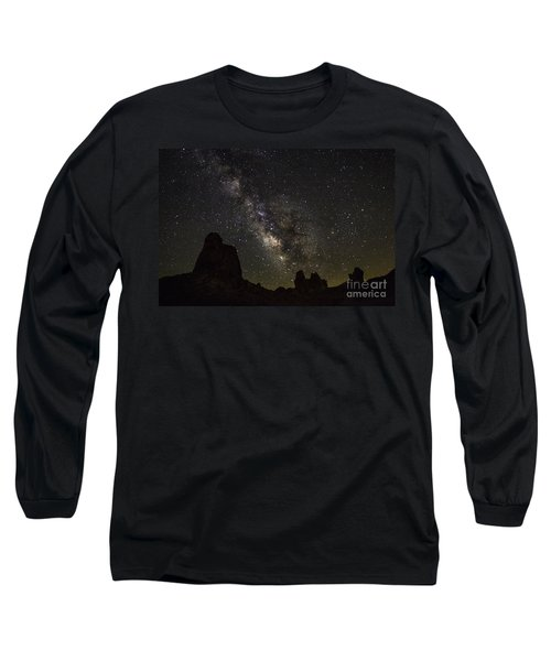 Milky Way Over Trona Pinnacles Long Sleeve T-Shirt