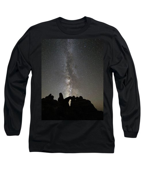 Milky Way Over Turret Arch Long Sleeve T-Shirt