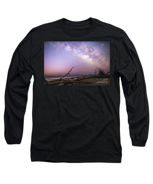 Milky Way Roots Long Sleeve T-Shirt by Robert Loe