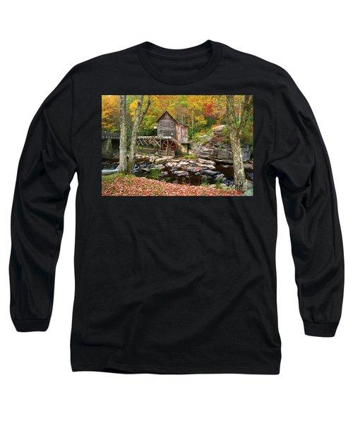 Mill At Babcock State Park Long Sleeve T-Shirt