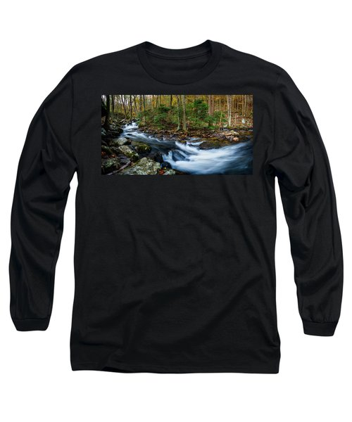 Mill Creek In Fall #2 Long Sleeve T-Shirt