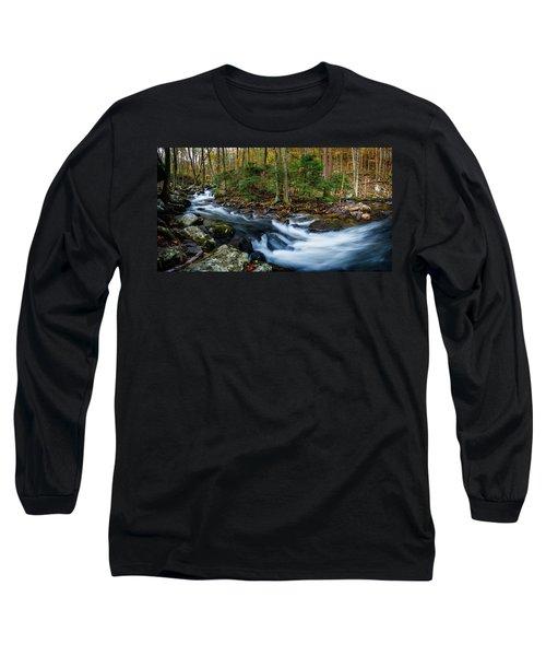 Mill Creek In Fall #2 Long Sleeve T-Shirt