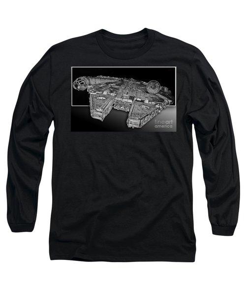 Millennium Falcon Attack Long Sleeve T-Shirt