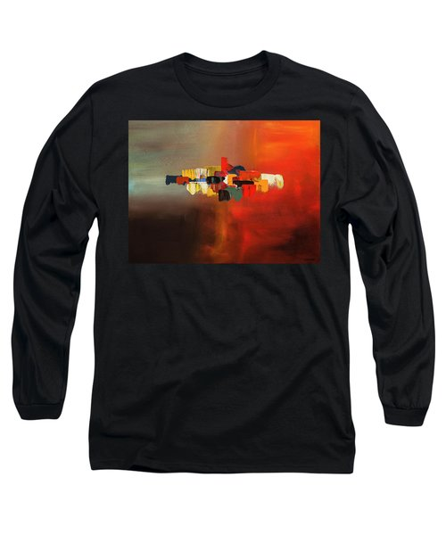 Long Sleeve T-Shirt featuring the painting Mindful - Abstract Art by Carmen Guedez