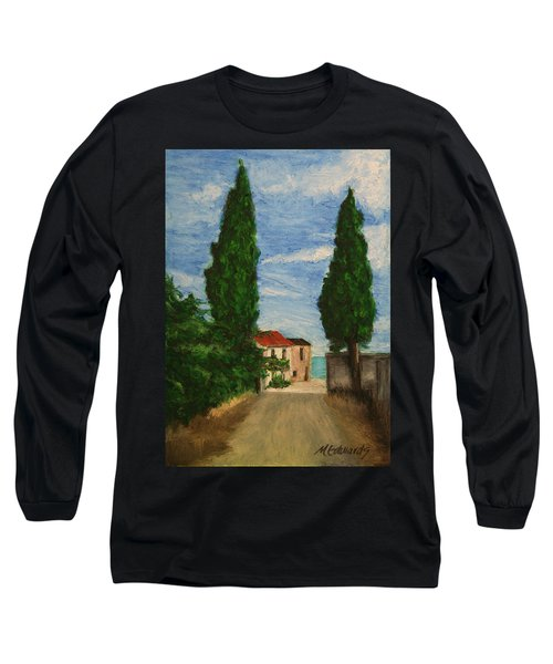 Mini Painting, Portugal Long Sleeve T-Shirt by Marna Edwards Flavell