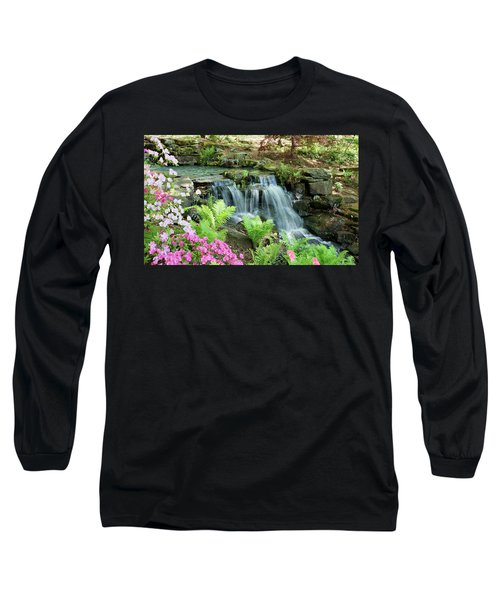Mini Waterfall Long Sleeve T-Shirt by Sandy Keeton