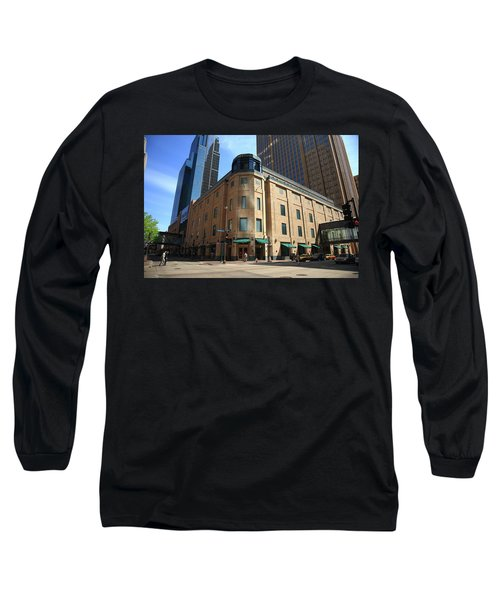 Long Sleeve T-Shirt featuring the photograph Minneapolis Downtown by Frank Romeo
