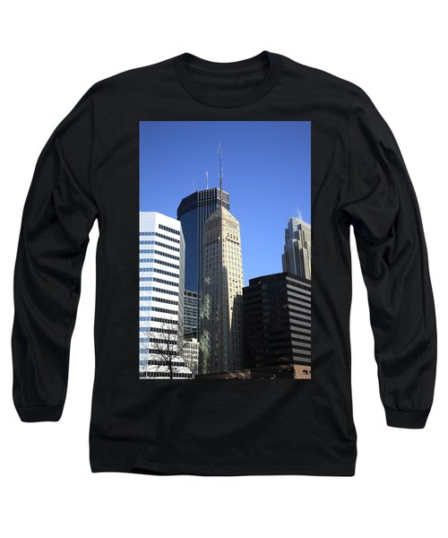 Long Sleeve T-Shirt featuring the photograph Minneapolis Skyscrapers 12 by Frank Romeo
