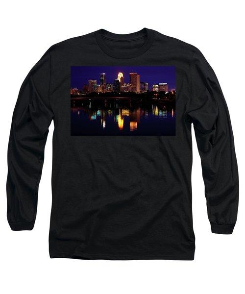 Minneapolis Twilight Long Sleeve T-Shirt by Rick Berk