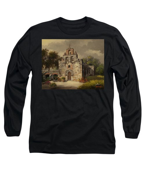 Long Sleeve T-Shirt featuring the painting Mission Espada by Kyle Wood