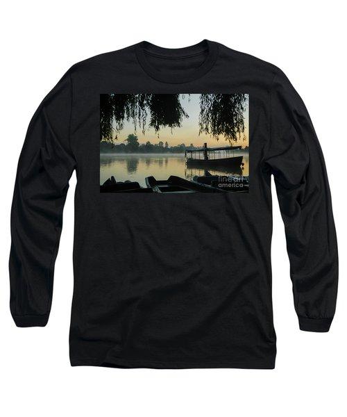 Mist Lake Silhouette Long Sleeve T-Shirt