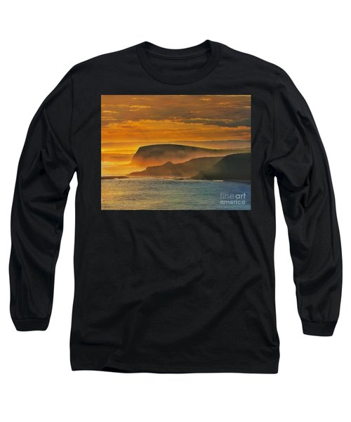 Misty Island Sunset Long Sleeve T-Shirt