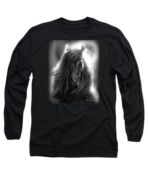 Misty Moonlight Long Sleeve T-Shirt by Patricia L Davidson