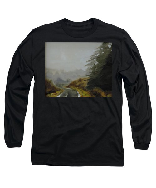 Misty Morning, Benevenagh Long Sleeve T-Shirt by Barry Williamson