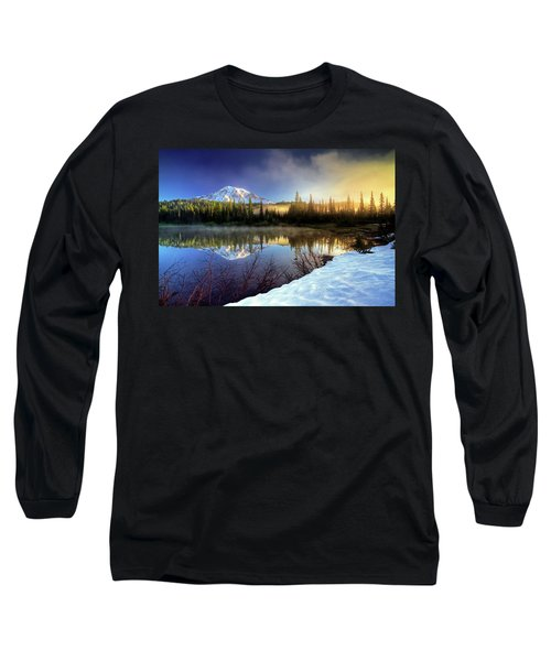 Misty Morning Lake Long Sleeve T-Shirt