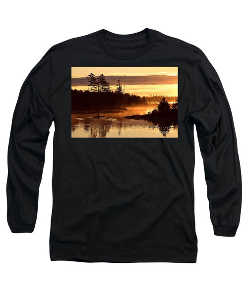Long Sleeve T-Shirt featuring the photograph Misty Morning Paddle by Larry Ricker
