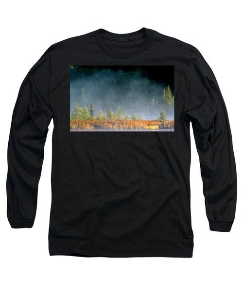 Misty Sunrise At Costello Creek Long Sleeve T-Shirt
