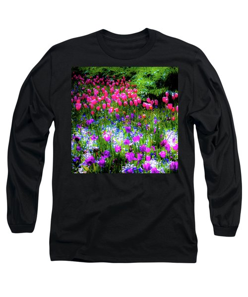 Mixed Flowers And Tulips Long Sleeve T-Shirt