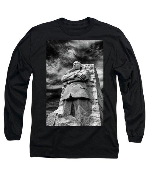Mlk Memorial Long Sleeve T-Shirt by Paul Seymour