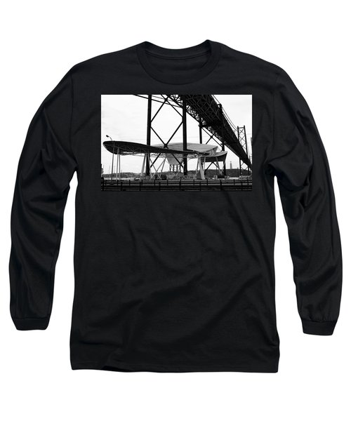 Long Sleeve T-Shirt featuring the photograph Modern Mass Transit by Lorraine Devon Wilke