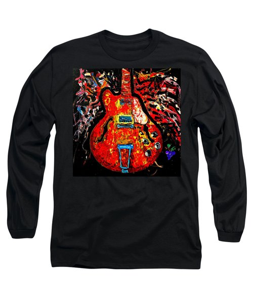 Modern Vintage Guitar Long Sleeve T-Shirt