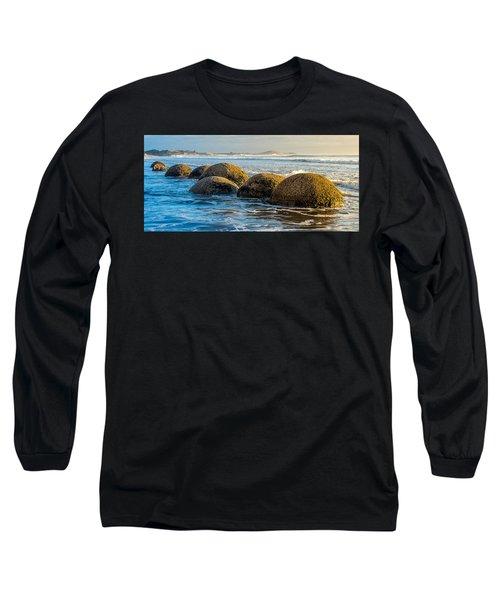 Moeraki Boulders Long Sleeve T-Shirt by Martin Capek