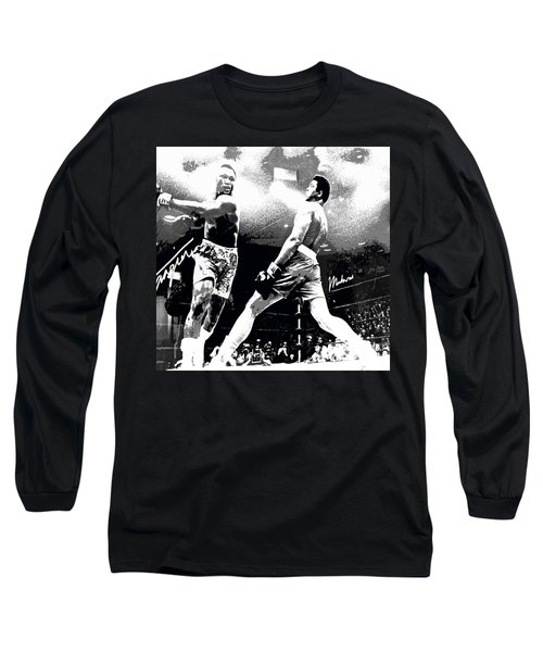 Mohamed Ali Float Like A Butterfly Long Sleeve T-Shirt by Saundra Myles