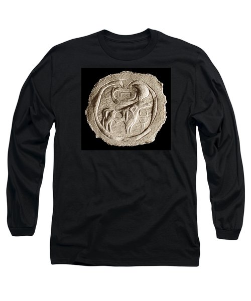 Long Sleeve T-Shirt featuring the relief Mohenjodaro Seal by Suhas Tavkar