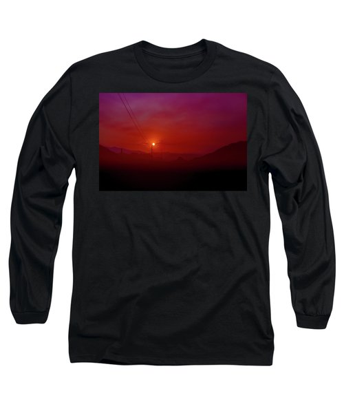 Mojave Sunrise Long Sleeve T-Shirt by Mark Dunton