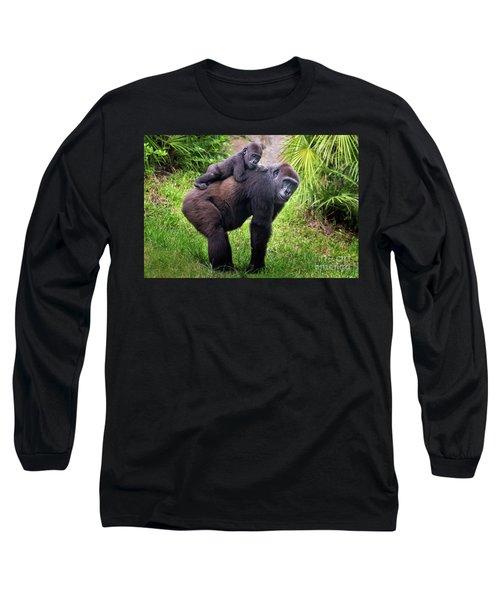 Mom And Baby Gorilla Long Sleeve T-Shirt