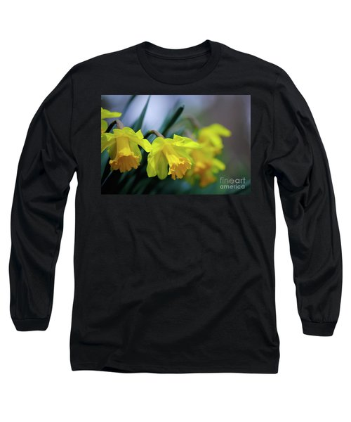 Long Sleeve T-Shirt featuring the photograph Mom's Daffs by Lois Bryan