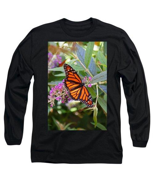 Monarch Butterfly 2 Long Sleeve T-Shirt by Allen Beatty
