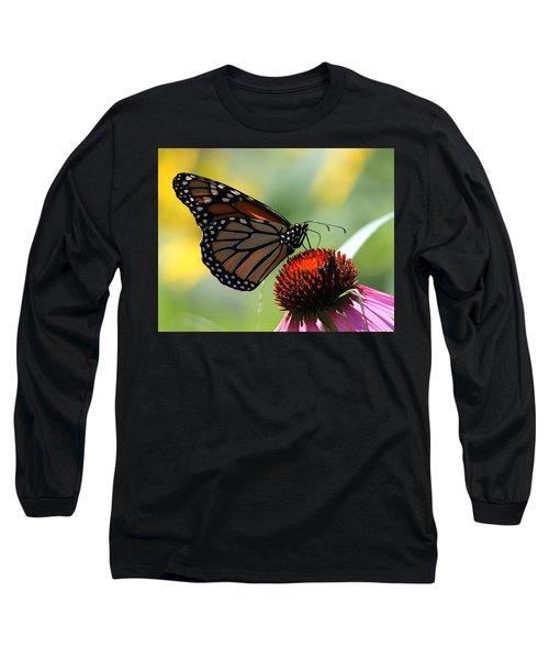 Monarch Butterfly Stony Brook New York Long Sleeve T-Shirt by Bob Savage