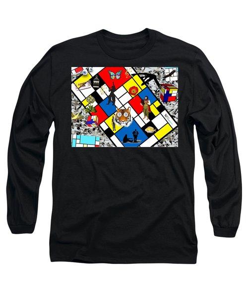 Mondrian Nightmare Long Sleeve T-Shirt