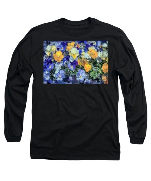 Monet's Pansies Long Sleeve T-Shirt
